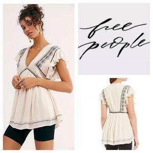 Free People Falling Water Embroidered Tunic.  NWT.